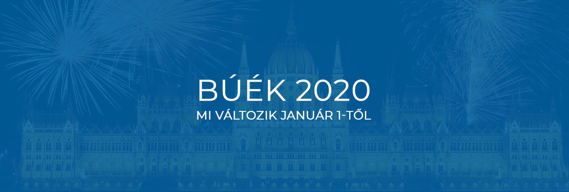 BÚÉK 2020 – mi változik január 1-től